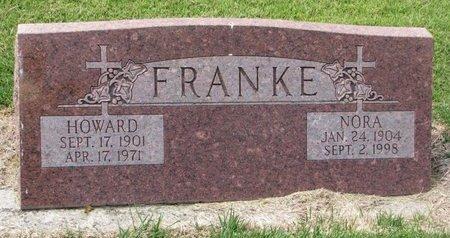 FRANKE, NORA L. - Washington County, Nebraska | NORA L. FRANKE - Nebraska Gravestone Photos