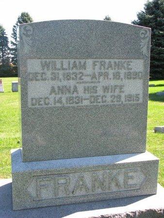 FRANKE, WILLIAM - Washington County, Nebraska   WILLIAM FRANKE - Nebraska Gravestone Photos