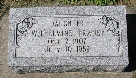 FRANKE, WILHELMINE - Washington County, Nebraska | WILHELMINE FRANKE - Nebraska Gravestone Photos