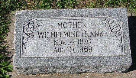 FRANKE, WILHELMINE - Washington County, Nebraska   WILHELMINE FRANKE - Nebraska Gravestone Photos