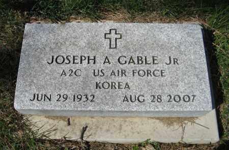 GABLE, JOSEPH A. JR. (MILITARY MARKER) - Washington County, Nebraska | JOSEPH A. JR. (MILITARY MARKER) GABLE - Nebraska Gravestone Photos