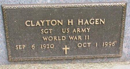 HAGEN, CLAYTON H. (MILITARY) - Washington County, Nebraska | CLAYTON H. (MILITARY) HAGEN - Nebraska Gravestone Photos