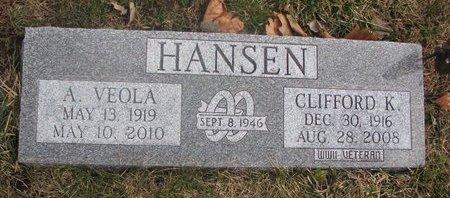 HANSEN, CLIFFORD K. - Washington County, Nebraska | CLIFFORD K. HANSEN - Nebraska Gravestone Photos
