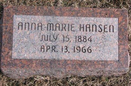 HANSEN, ANNA MARIE - Washington County, Nebraska | ANNA MARIE HANSEN - Nebraska Gravestone Photos