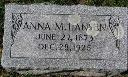 HANSEN, ANNA M. - Washington County, Nebraska | ANNA M. HANSEN - Nebraska Gravestone Photos