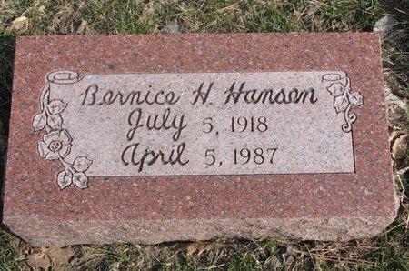HANSEN, BERNICE HATTIE - Washington County, Nebraska | BERNICE HATTIE HANSEN - Nebraska Gravestone Photos