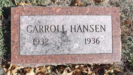HANSEN, CARROLL - Washington County, Nebraska | CARROLL HANSEN - Nebraska Gravestone Photos