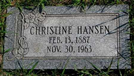 HANSEN, CHRISTINE - Washington County, Nebraska | CHRISTINE HANSEN - Nebraska Gravestone Photos