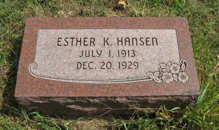 HANSEN, ESTHER K. - Washington County, Nebraska | ESTHER K. HANSEN - Nebraska Gravestone Photos