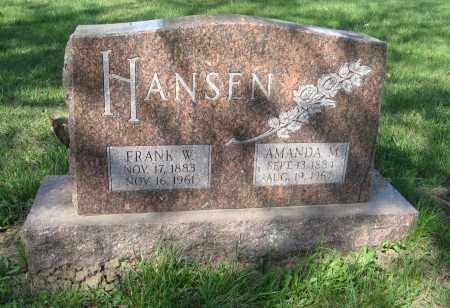 HANSEN, FRANK W. - Washington County, Nebraska | FRANK W. HANSEN - Nebraska Gravestone Photos