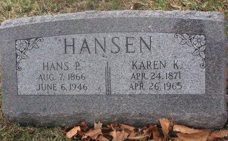 HANSEN, HANS P. - Washington County, Nebraska | HANS P. HANSEN - Nebraska Gravestone Photos