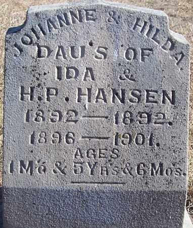 HANSEN, HILDA - Washington County, Nebraska | HILDA HANSEN - Nebraska Gravestone Photos