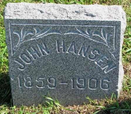 HANSEN, JOHN - Washington County, Nebraska   JOHN HANSEN - Nebraska Gravestone Photos