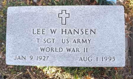 HANSEN, LEE W. (MILITARY MARKER) - Washington County, Nebraska | LEE W. (MILITARY MARKER) HANSEN - Nebraska Gravestone Photos