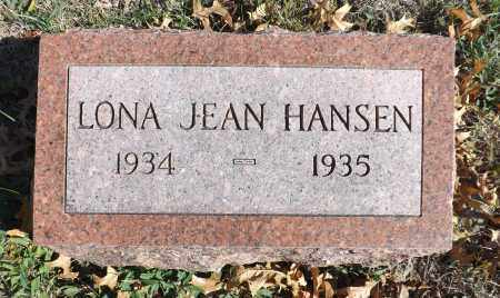HANSEN, LONA JEAN - Washington County, Nebraska | LONA JEAN HANSEN - Nebraska Gravestone Photos
