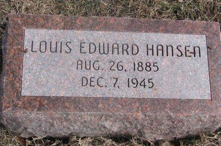 HANSEN, LOUIS EDWARD - Washington County, Nebraska | LOUIS EDWARD HANSEN - Nebraska Gravestone Photos