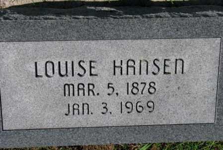 HANSEN, LOUISE - Washington County, Nebraska   LOUISE HANSEN - Nebraska Gravestone Photos
