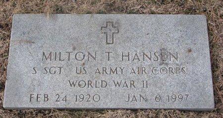 HANSEN, MILTON T. - Washington County, Nebraska | MILTON T. HANSEN - Nebraska Gravestone Photos