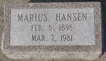 HANSEN, MARIUS - Washington County, Nebraska | MARIUS HANSEN - Nebraska Gravestone Photos