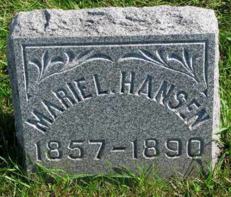 HANSEN, MURIEL - Washington County, Nebraska | MURIEL HANSEN - Nebraska Gravestone Photos