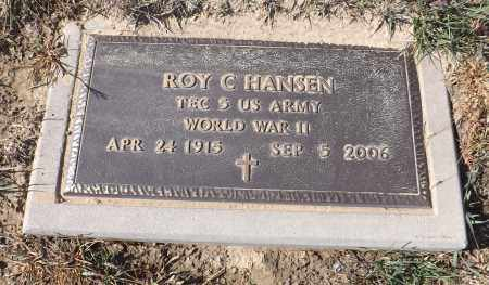HANSEN, ROY C. (MILITARY MARKER) - Washington County, Nebraska | ROY C. (MILITARY MARKER) HANSEN - Nebraska Gravestone Photos