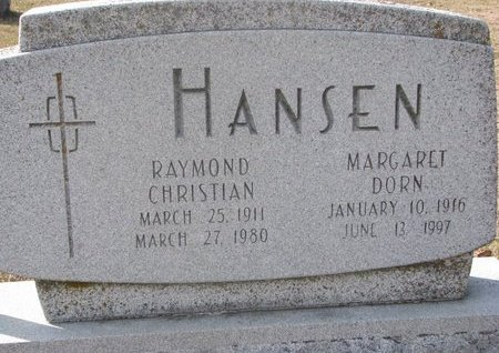 HANSEN, RAYMOND CHRISTIAN - Washington County, Nebraska | RAYMOND CHRISTIAN HANSEN - Nebraska Gravestone Photos