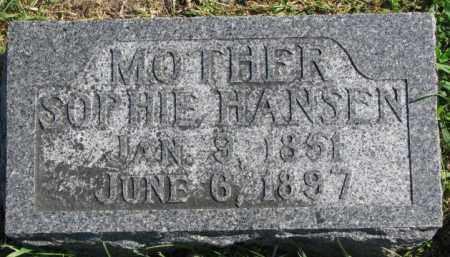 HANSEN, SOPHIE - Washington County, Nebraska   SOPHIE HANSEN - Nebraska Gravestone Photos