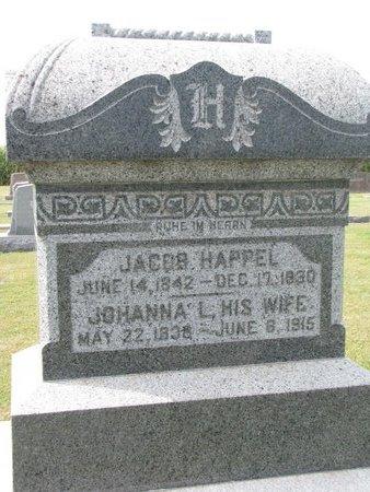 HAPPEL, JACOB - Washington County, Nebraska | JACOB HAPPEL - Nebraska Gravestone Photos