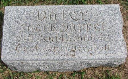 HAPPEL, JACOB (FOOTSTONE) - Washington County, Nebraska | JACOB (FOOTSTONE) HAPPEL - Nebraska Gravestone Photos