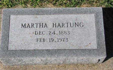 HARTUNG, MARTHA - Washington County, Nebraska | MARTHA HARTUNG - Nebraska Gravestone Photos