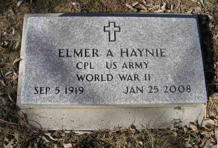 HAYNIE, ELMER A. (MILITARY MARKER) - Washington County, Nebraska | ELMER A. (MILITARY MARKER) HAYNIE - Nebraska Gravestone Photos