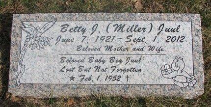 MILLER JUUL, BETTY J. - Washington County, Nebraska   BETTY J. MILLER JUUL - Nebraska Gravestone Photos