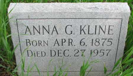 KLINE, ANNA G. - Washington County, Nebraska | ANNA G. KLINE - Nebraska Gravestone Photos