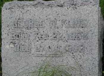 KLINE, GEORGE W. - Washington County, Nebraska | GEORGE W. KLINE - Nebraska Gravestone Photos
