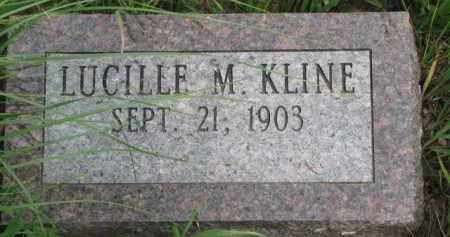KLINE, LUCILLE M. - Washington County, Nebraska | LUCILLE M. KLINE - Nebraska Gravestone Photos