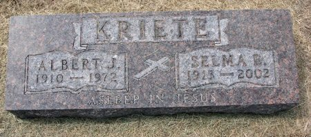 KRIETE, ALBERT J. - Washington County, Nebraska | ALBERT J. KRIETE - Nebraska Gravestone Photos