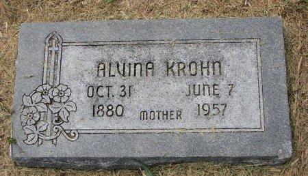 KROHN, ALVINA CHRISTINE DOROTHEA - Washington County, Nebraska | ALVINA CHRISTINE DOROTHEA KROHN - Nebraska Gravestone Photos