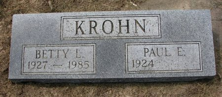 KROHN, PAUL E. - Washington County, Nebraska | PAUL E. KROHN - Nebraska Gravestone Photos