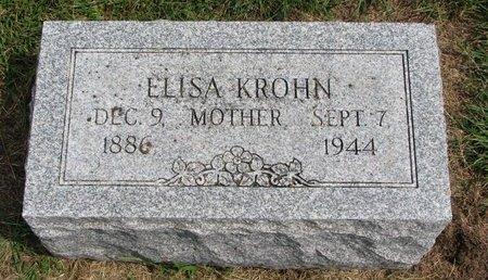 KROHN, ELISA - Washington County, Nebraska | ELISA KROHN - Nebraska Gravestone Photos