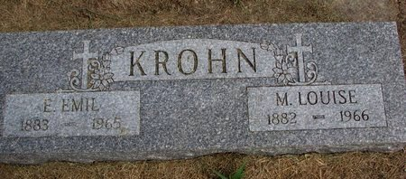 KROHN, EDWARD EMIL - Washington County, Nebraska   EDWARD EMIL KROHN - Nebraska Gravestone Photos
