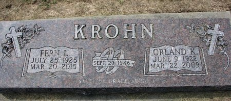KROHN, ORLAND K. - Washington County, Nebraska | ORLAND K. KROHN - Nebraska Gravestone Photos