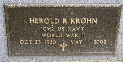 KROHN, HEROLD R. (MILITARY) - Washington County, Nebraska | HEROLD R. (MILITARY) KROHN - Nebraska Gravestone Photos