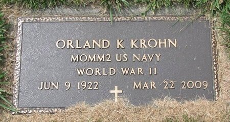 KROHN, ORLAND K. (MILITARY) - Washington County, Nebraska | ORLAND K. (MILITARY) KROHN - Nebraska Gravestone Photos