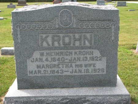 KROHN, MARGRETHA LOUISE - Washington County, Nebraska | MARGRETHA LOUISE KROHN - Nebraska Gravestone Photos