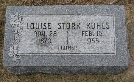 STORK KUHLS, LOUISE - Washington County, Nebraska | LOUISE STORK KUHLS - Nebraska Gravestone Photos