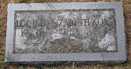 KUSS, LOUISE ELIZABETH - Washington County, Nebraska | LOUISE ELIZABETH KUSS - Nebraska Gravestone Photos
