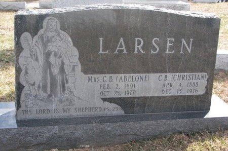 LARSEN, CHRISTIAN B. - Washington County, Nebraska | CHRISTIAN B. LARSEN - Nebraska Gravestone Photos