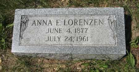 LORENZEN, ANNA E. - Washington County, Nebraska | ANNA E. LORENZEN - Nebraska Gravestone Photos