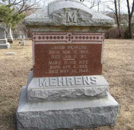 MEHRENS, MARIE W. - Washington County, Nebraska | MARIE W. MEHRENS - Nebraska Gravestone Photos