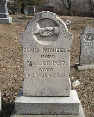MICHEELS, CLAUS - Washington County, Nebraska | CLAUS MICHEELS - Nebraska Gravestone Photos